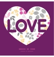 abstract pink yellow and gray leaves love text vector image vector image