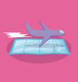 airplane flying with map guide vector image