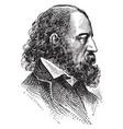 alfred tennyson vintage vector image vector image