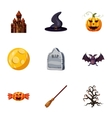 All saints day icons set cartoon style vector image vector image