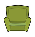 armchair seat furniture vector image