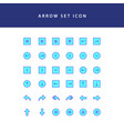 arrows icons set filled outline vector image vector image