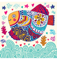 Artistic sealife background vector image vector image