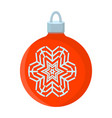 ball xmas isolated icon cartoon style for vector image vector image