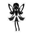 beautiful fairy flying character vector image vector image