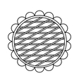Berry pie icon outline style vector image
