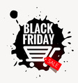 black friday sale design in grunge style vector image vector image