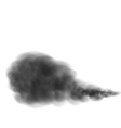 black smoke isolated on a white background vector image vector image