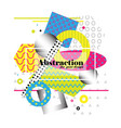 bright geometrical abstraction modern art vector image