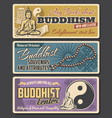 buddhism religion vintage banners