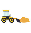 bulldozer with load in colorful silhouette vector image vector image
