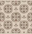 butterfly mandala floral pattern on beige tile vector image vector image