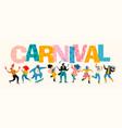 carnival funny dancing men vector image vector image