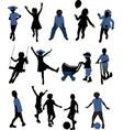 children silhouettes - vector image