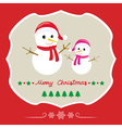 Christmas greeting card66 vector image