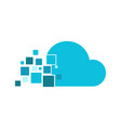 cloud fragment technology logo graphic design vector image