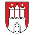coat arms hamburg seal emblem germany vector image vector image