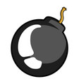 comic bomb icon vector image