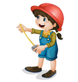 construction girl vector image vector image