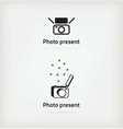 Creative symbol for a photographer vector image vector image