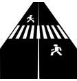 crosswalk icon vector image vector image