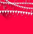 cute background with hanging pennants for carnival vector image vector image