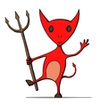Cute cartoon devil vector image
