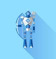 Cute Robot Knight vector image vector image