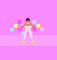 dancing girl character at disco vector image