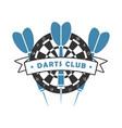 darts club logo vector image vector image
