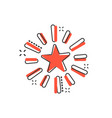 excellence icon in comic style star ribbon vector image vector image