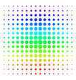 filled circle shape halftone spectral effect vector image vector image