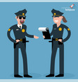 flat design man and woman police officers vector image