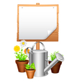 Garden equipment vector image vector image