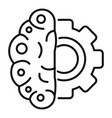 gear brain ai icon outline style vector image vector image