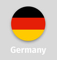 germany flag round icon vector image vector image
