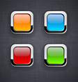 Glossy 3d square buttons vector image vector image