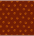 glowing in the red pumpkin faces haloween vector image vector image