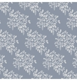 Grey floral pattern Endless background vector image