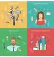 Hairdressing Salon Concept vector image