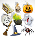 Halloween elements collection vector | Price: 1 Credit (USD $1)