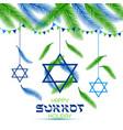 happy sukkot holiday jewish holiday sukkot vector image