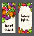 harvest festival banners autumn vector image