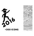 Human Figure Climbing 2016 Icon vector image vector image
