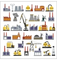 Industrial buildings vector image vector image
