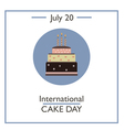 International Cake Day vector image vector image