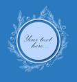 invitation vintage on blue background vector image vector image