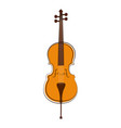 isolated cello sketch musical instrument vector image