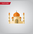 isolated minaret flat icon religion vector image vector image