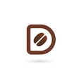 Letter D coffee logo icon design template elements vector image vector image